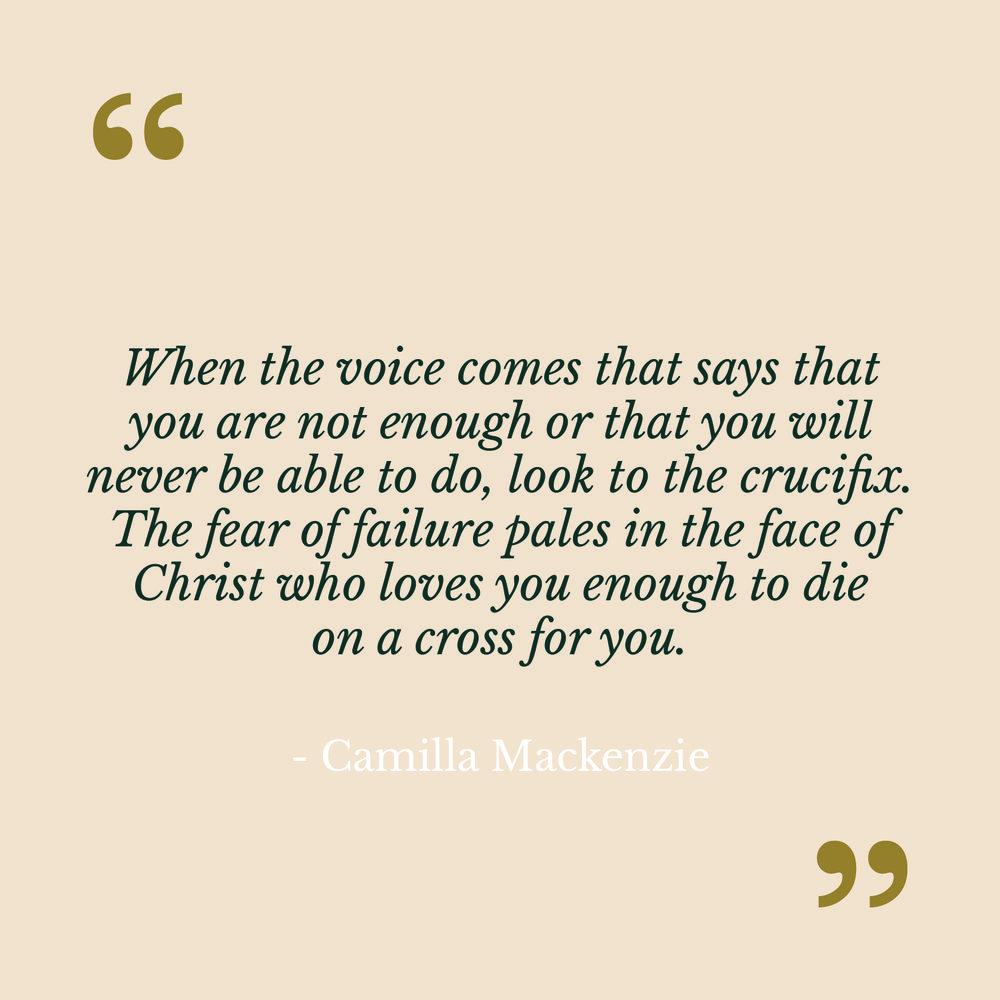 Camilla Mackenzie The Catholic Woman Quote