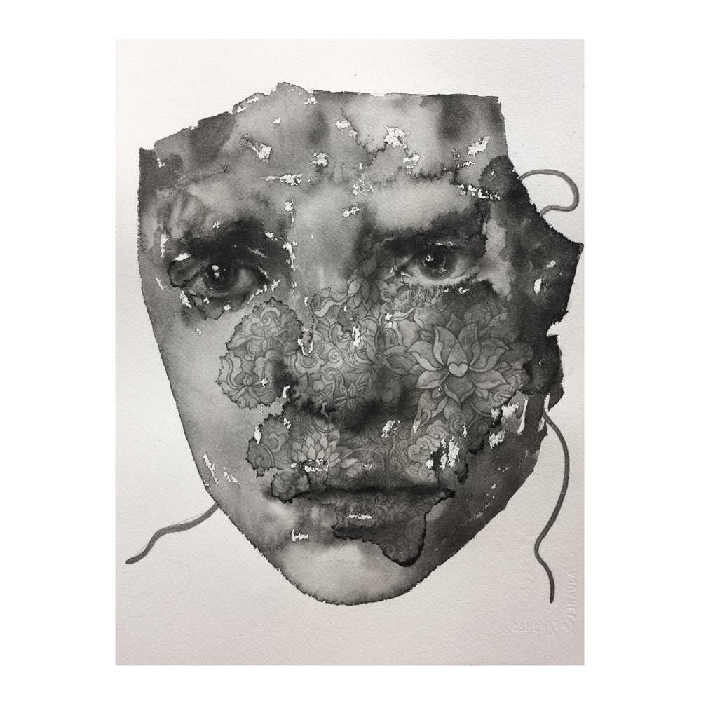 Mask #6 (Contemporary Chinese Artist Shanlin Ye @ Jim Kempner Fine Art)