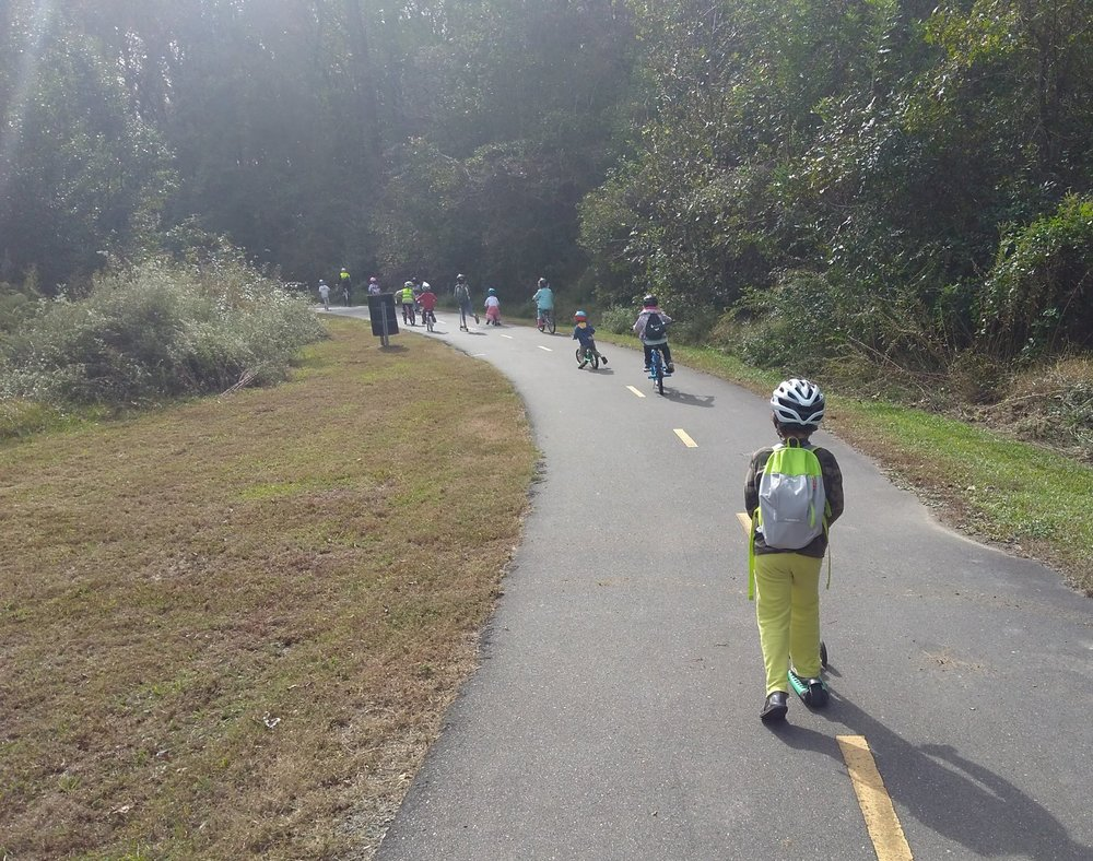 Watching movies is not the only thing we do! Walking/ biking/ scooting field trip to a museum.