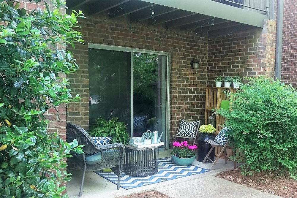 Private Apartment Balcony in West Nashville TN