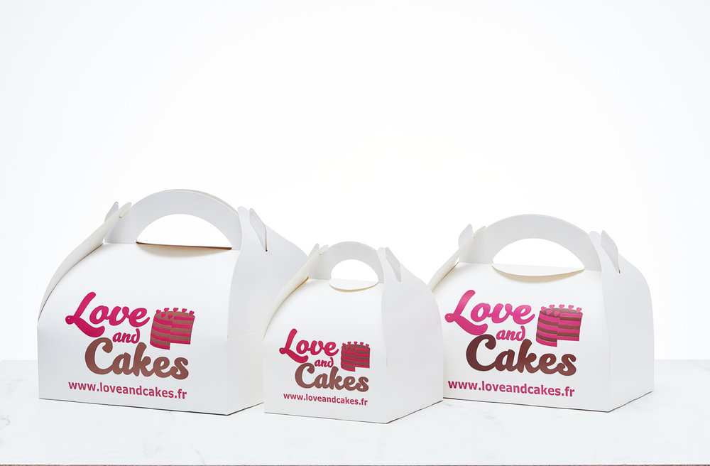 Love and Cakes Cupcakes packaging