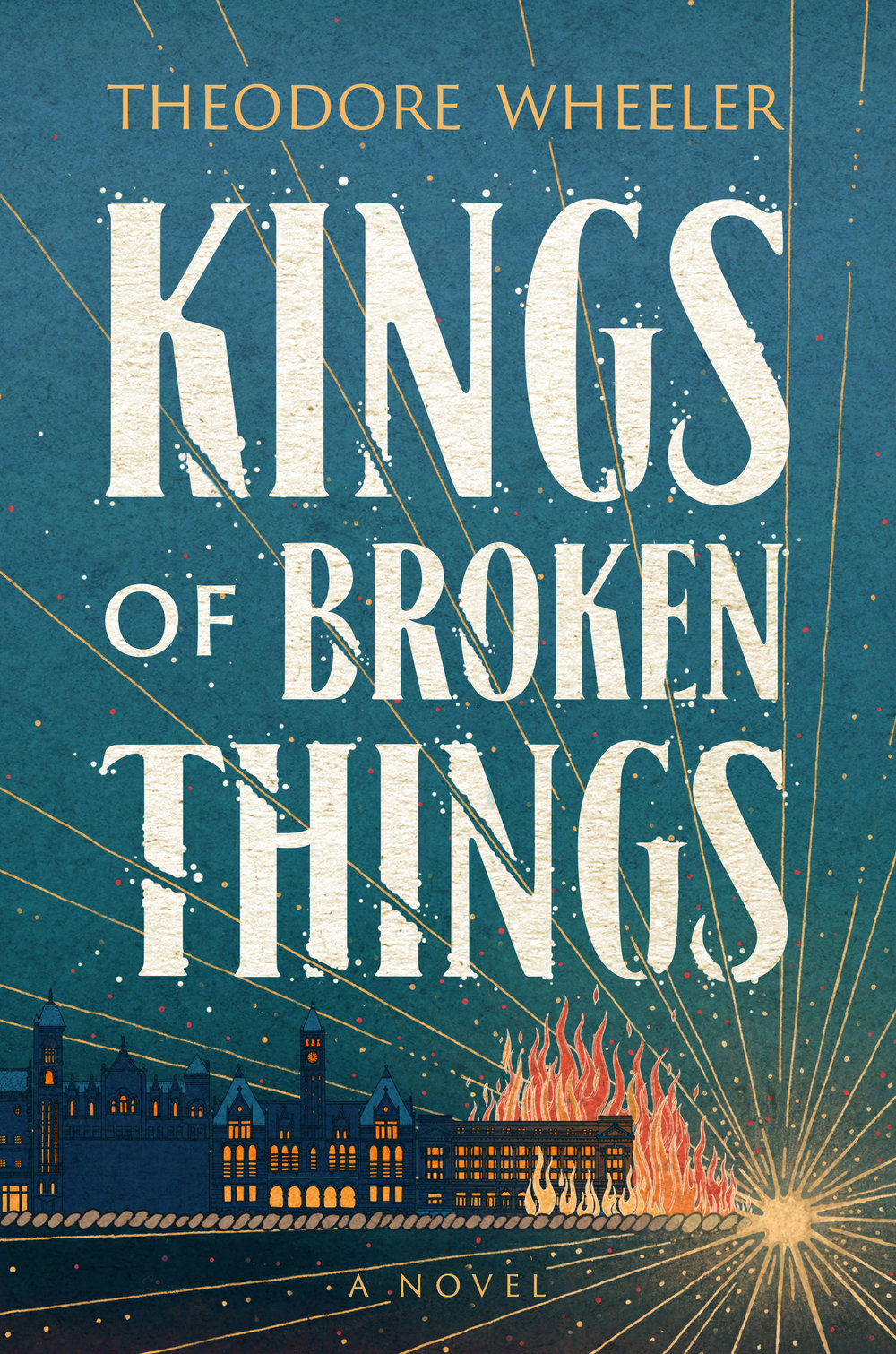 With characters depicted in precise detail and wide panorama—a kept-woman's parlor, a contentious interracial baseball game on the Fourth of July, and the tragic true events of the Omaha Race Riot of 1919— Kings of Broken Things  reveals the folly of human nature in an era of astonishing ambition.   During the waning days of World War I, three lost souls find themselves adrift in Omaha, Nebraska, at a time of unprecedented nationalism, xenophobia, and political corruption. Adolescent European refugee Karel Miihlstein's life is transformed after neighborhood boys discover his prodigious natural talent for baseball. Jake Strauss, a young man with a violent past and desperate for a second chance, is drawn into a criminal underworld. Evie Chambers, a kept woman, is trying to make ends meet and looking every which way to escape her cheerless existence.  As wounded soldiers return from the front and black migrant workers move north in search of economic opportunity, the immigrant wards of Omaha become a tinderbox of racial resentment stoked by unscrupulous politicians. Punctuated by an unspeakable act of mob violence, the fates of Karel, Jake, and Evie will become inexorably entangled with the schemes of a ruthless political boss whose will to power knows no bounds.  Written in the tradition of Don DeLillo and Colum McCann, with a great debt to Ralph Ellison, Theodore Wheeler's debut novel  Kings of Broken Things  is a panoramic view of a city on the brink of implosion during the course of this summer of strife.
