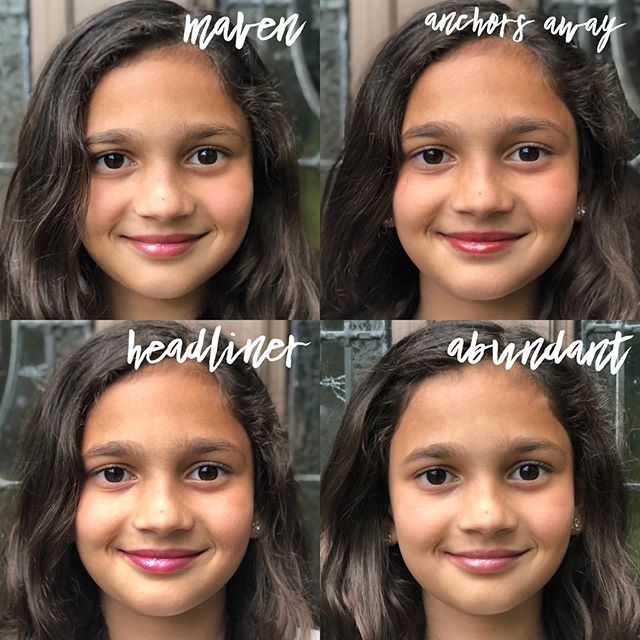 This is my daughter, Olive, gladly showing you Savvy lip gloss shades with her gorgeous skin tone. She was basically in heaven with this assignment.  She is a stealer of makeup...so I had to get her Headliner, or I just know mine would have disappeared. 😆 Oh to be 9 again! . . . . . .#takecarebegood #efwellness #youngliving #younglivingessentialoils #essentialoils #morethanoils #savvyminerals #savvymineralsmakeup #naturalbeauty #confidencewithoutcompromise #mineralmakeup #cleanmakeup #glutenfreemakeup #talcfreemakeup #talcfree #nontoxicbeauty #crueltyfreemakeup #crueltyfreebeauty #mavenlipgloss #anchorsawaylipgloss #headlinerlipgloss #abundantlipgloss #lipglosspoppin #mylipglossispoppin #mylipglossbepoppin @younglivingeo