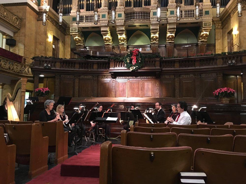 Beethoven Octet rehearsal