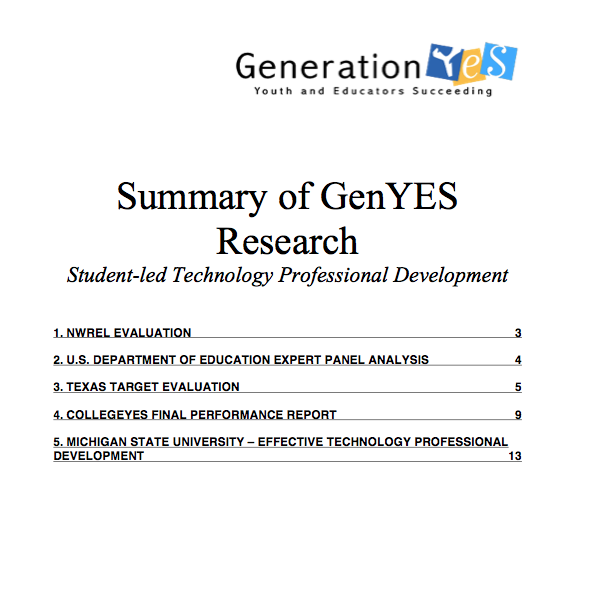 Summary_GenYES_Research