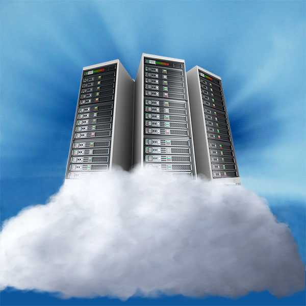 Image: Servers on a blue background, supported by a cloud.  http://pngimg.com/download/25963  Modified by L. Rochester 3/14/2018