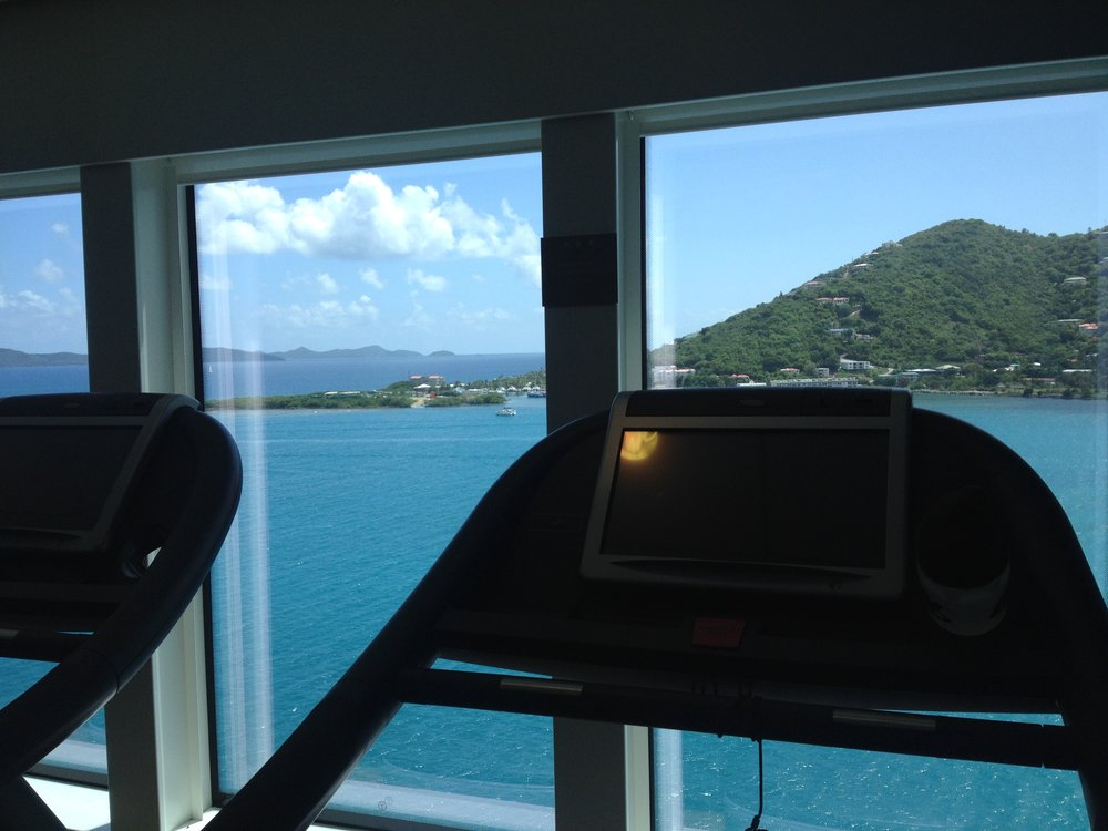 30 minute intervals on the treadmill was my go to workout during my caribbean cruise.