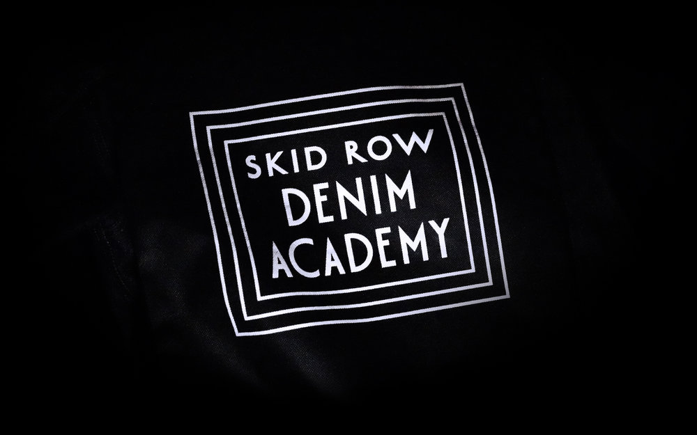 Skid Row Denim Academy Logo design