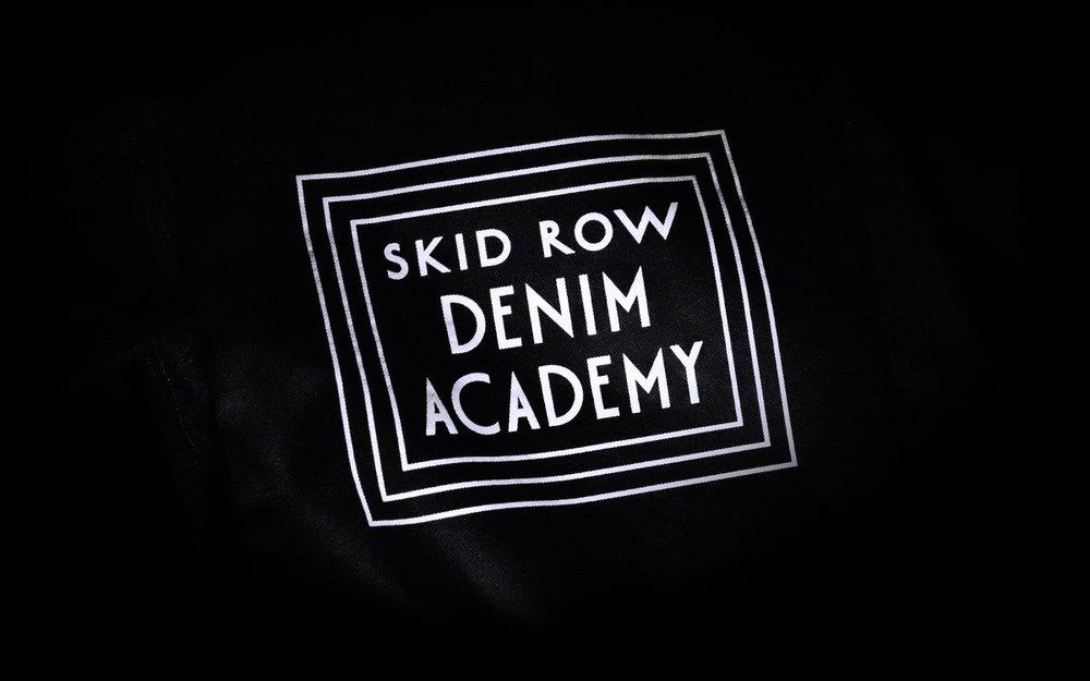 Skid Row Denim Academy Logo design