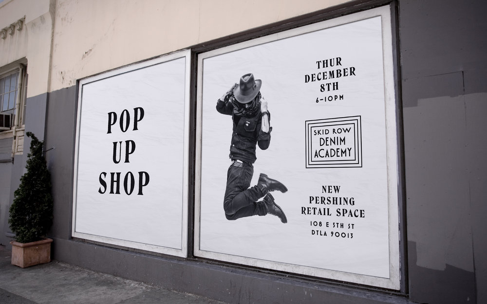 Skid Row Denim Academy branding and design