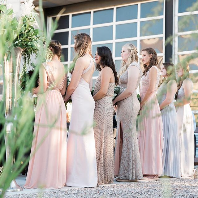 Bridesmaids in blush and shimmer ✨✨✨ #bridesmaids #bridesquad #bridalpartygoals #tucsonwedding