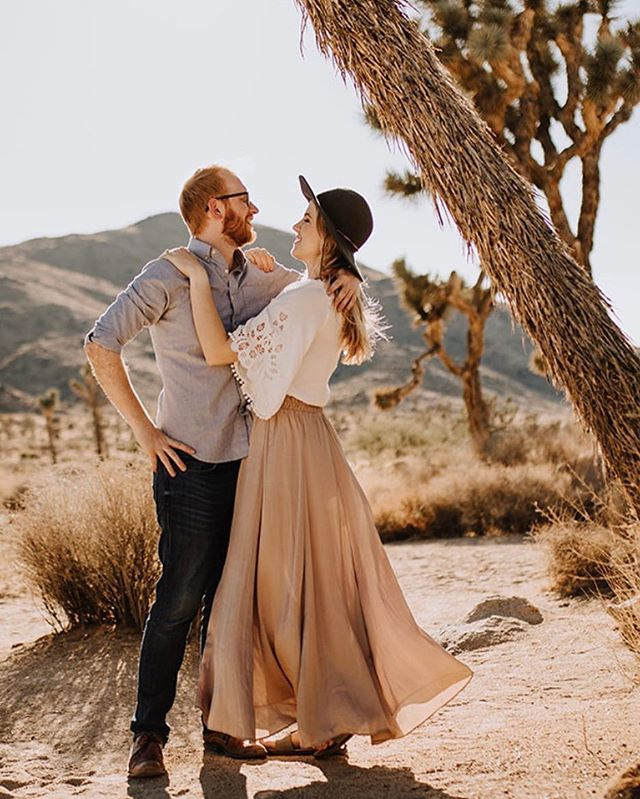 C'mon with this amazing shoot at Joshua Tree!!! Does it get any more romantic?!?! We are so excited to be a part of Cate and Zach's intimate destination ceremony here in Tucson later this Spring. More to come... this AMAZING photo by @shleeeeeeeeee #destinationwedding #engagementphotos #tucsonwedding #destinationweddingplanner