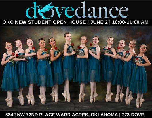 New Student Open House - June 2nd10-11amDove Dance OKC