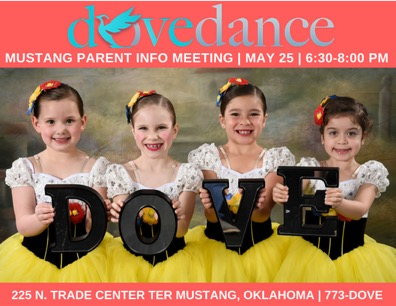 Mustang Parent Info Meeting - May 25th6:30 - 8pmDove Dance Mustang