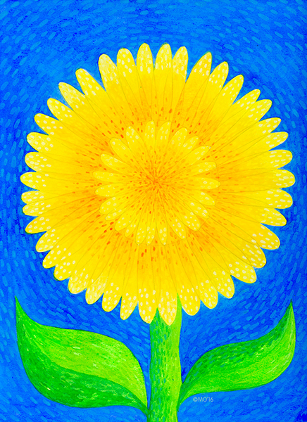 """Sunflower""  From Tropical Illustrations collection.  Check out my  ART SHOP  for prints and greeting cards with this design."