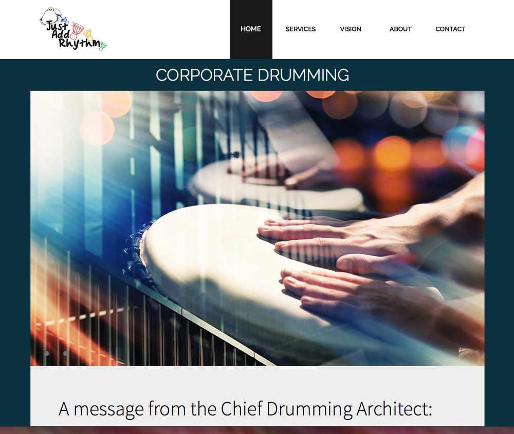 Corporate drumming website