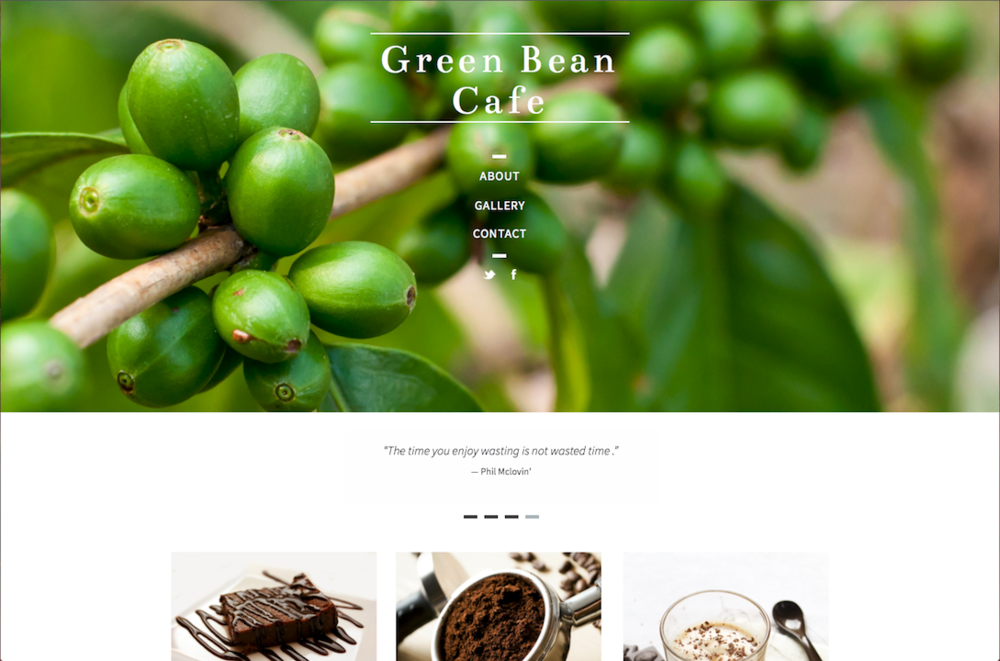 Green bean cafe website