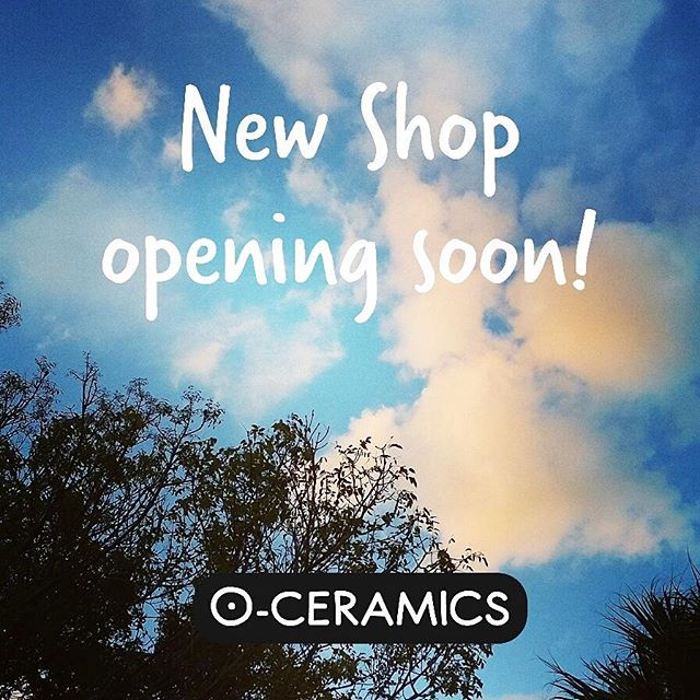 Hey guys! Almost there. New online shop opening soon! Have a good night or good morning wherever you are! Remember to check out my new @oceramics