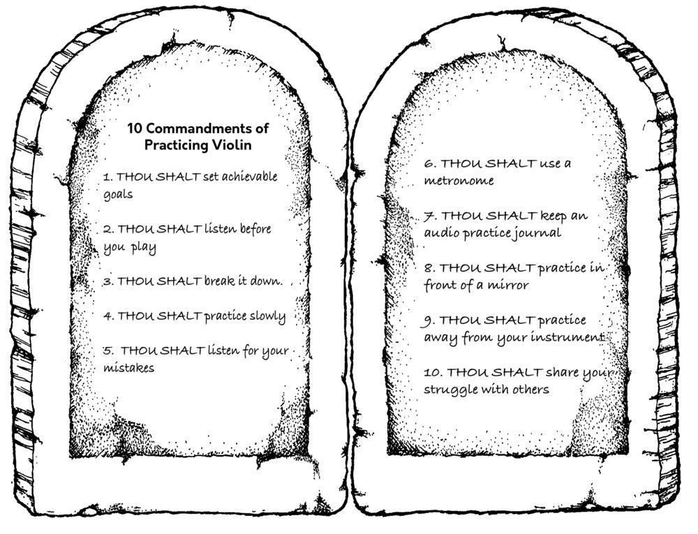 The 10 Commandments Of Practicing Violin