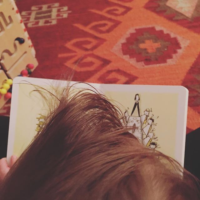 In an old house covered in vines there lived a mohawk...oh wait, that's not how it goes. . . . #bookworm #radiantmamalife #welovetoread