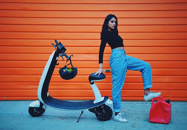 Kicking your gas tank to the curb and going electric. New still from yesterday's photoshoot for @ojoelectric. ⛽️✂️