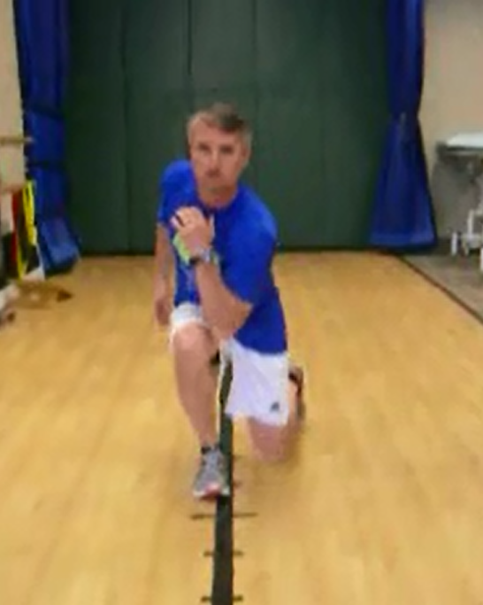 lunge walk elbow to opposite