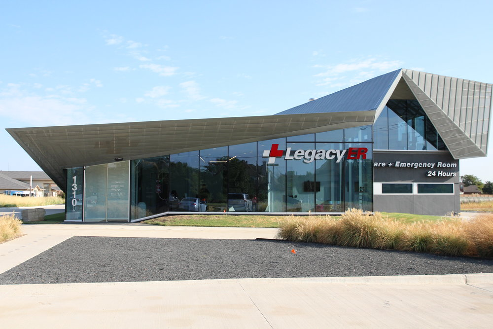 INtuitive Health's Legacy ER & Urgent Care Allen, Texas location.  No glass partitions, no wait, typically in-and-out in under 35 minutes for urgent care and under 120 minutes for emergency room care.