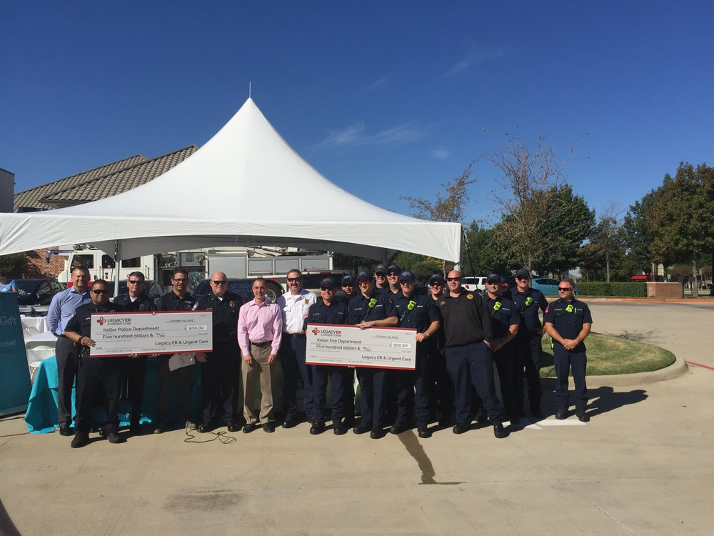 Legacy team donating lunch and funds for Keller Texas First Responders and their Fallen Hero's Fund.