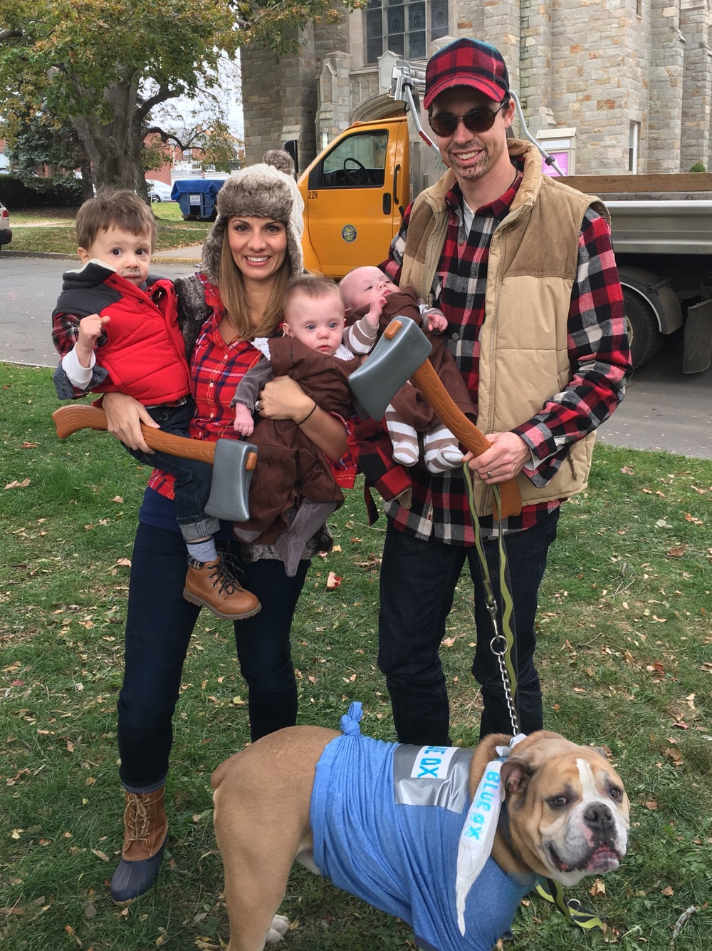Halloween 2016-Lumberjacks and logs.