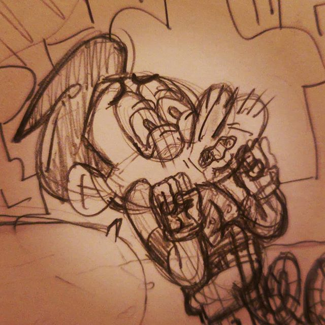 Roughs #wip #pencils #comic #gross