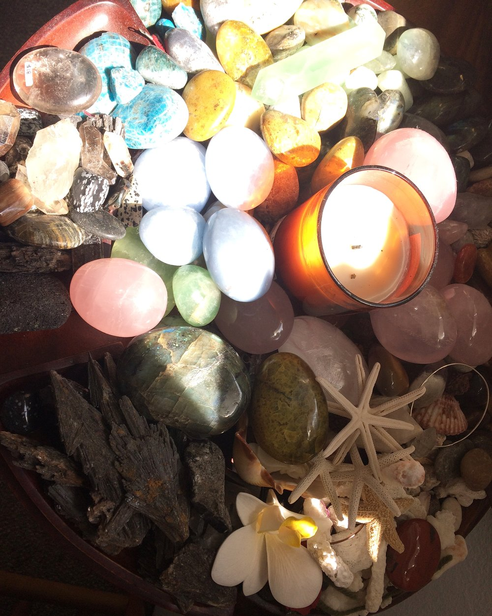 Healing stones catching some sun time...recharge