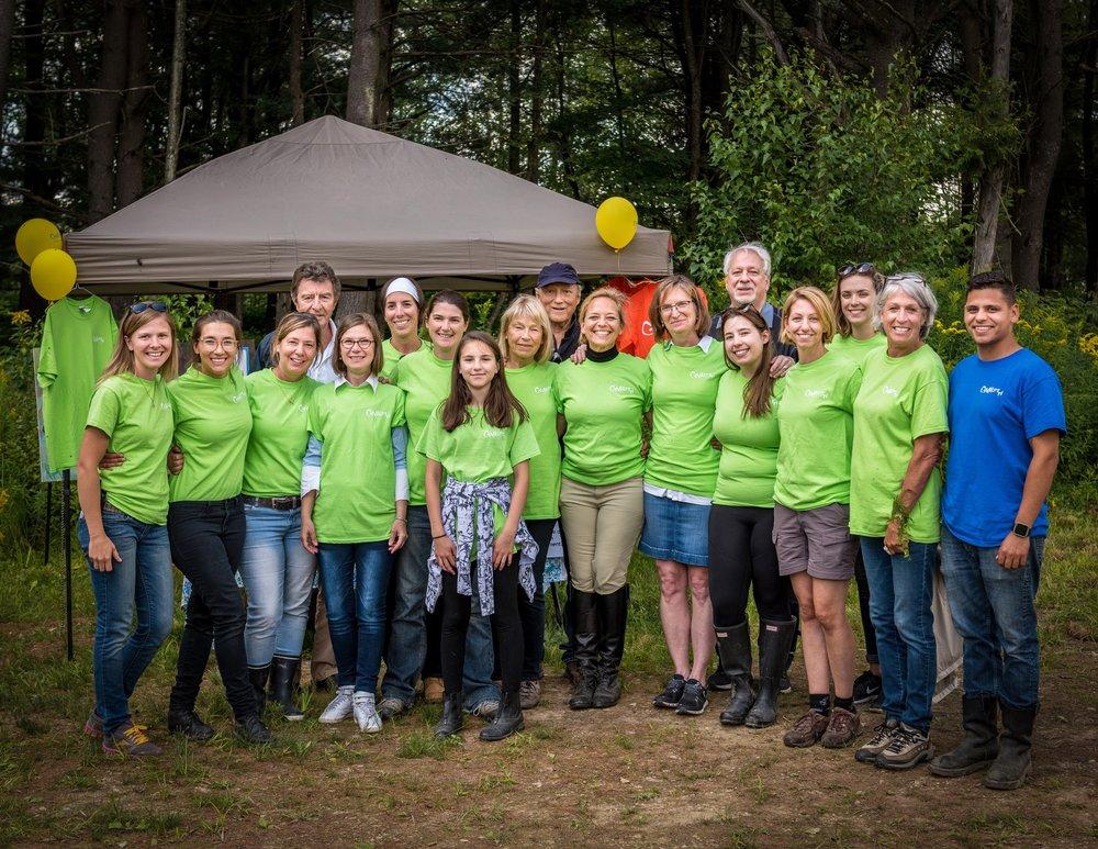 La grande famille des bénévoles Cavaletti lors de notre  Journée découverte  du 26 août 2017.
