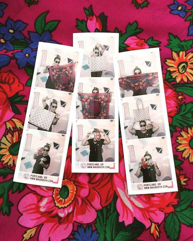 Gracias @magbooth 📸 for letting me capture some action product shots! We are @renegadecraft until 6! ⏳#woventote #foralscarf #tinart #supportsmall