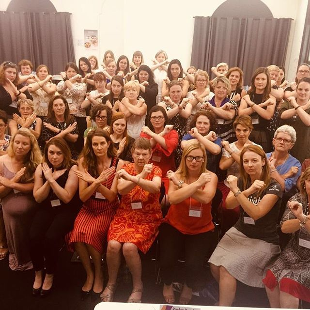 YWCA Women from the YWCA Australia AGM say no to Gender Based Violence as part of the #16Days of activism to #EndGBV.⠀ ⠀ @WorldYWCA