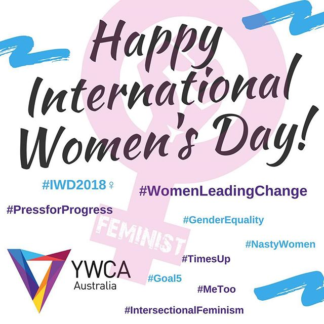 Happy #InternationalWomensDay from all of us at YWCA Australia! May we celebrate women, young women and girls across the world, and continue to fight for their rights and empowerment. We've got the momentum - let's keep going!⠀ ⠀ Here in Australia we still have much to do, and we're ready for it! If you would like to support us, head to the link in our bio to donate to empowering and supporting women, young women and girls in Australia!⠀ #IWD2018 #PressForProgress #WomenLeadingChange