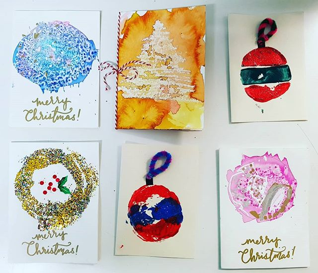 There's something special about handmade cards. These beautiful cards were made for our Charity Christmas market #Christmas #hamdmade #creativechildren