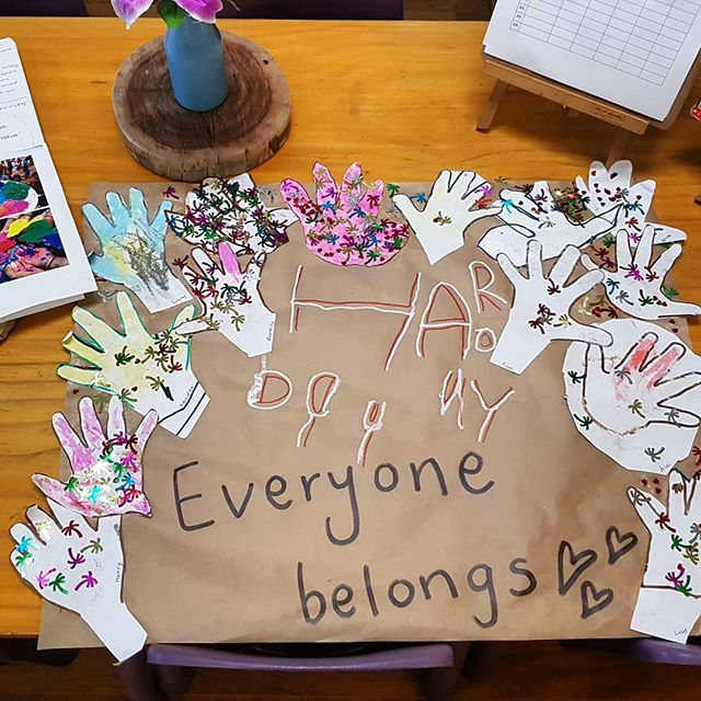 Its never too early too start sharing the importance of this message #harmonyday #everyonebelongs #leadbyexample