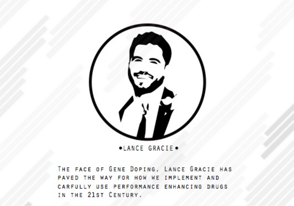 Promotional flyer for Mr. Lance Gracie when he speaks to large groups.