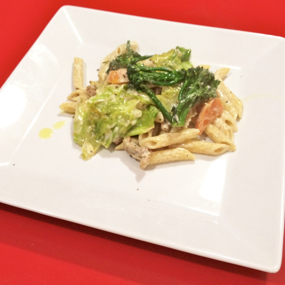Spring vegetable with cream sauce