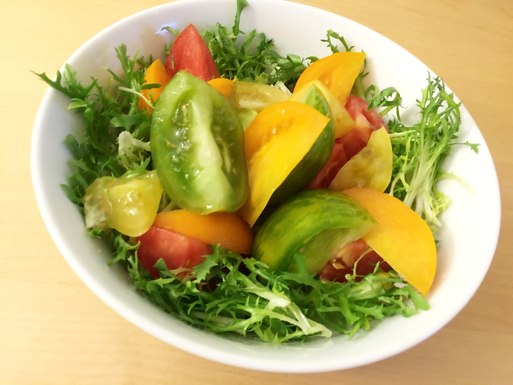 colorful tomato salad