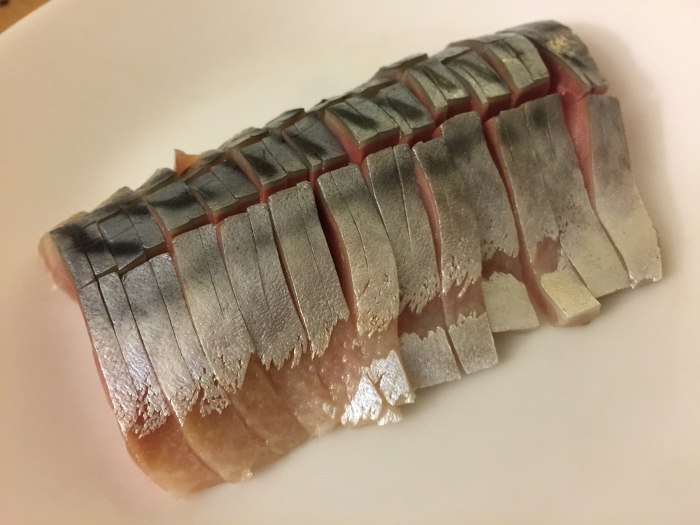 Mackerel with light vinegared