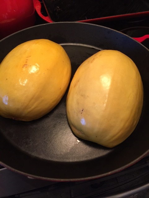 spaghetti squash preparation
