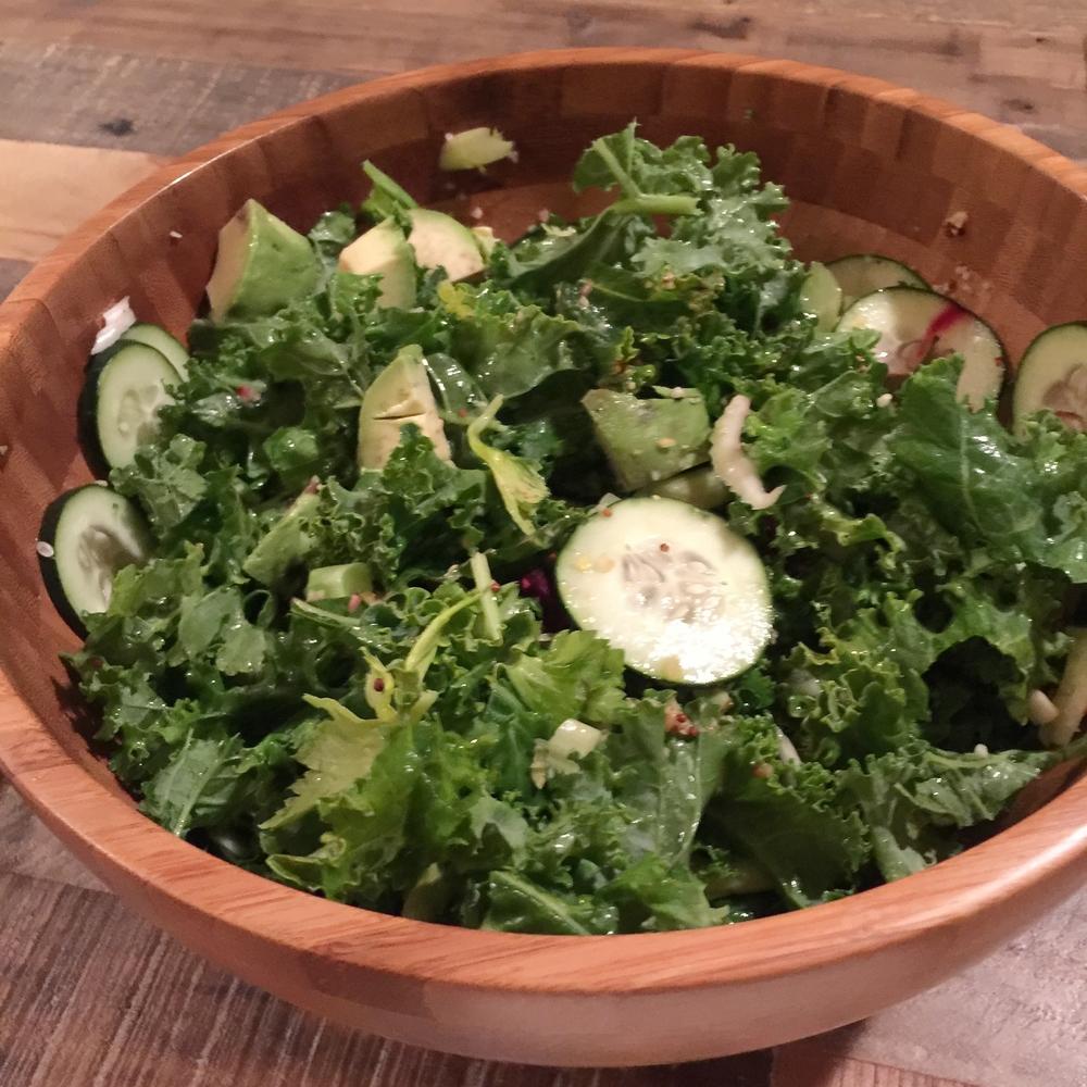 Tateki's big green salad