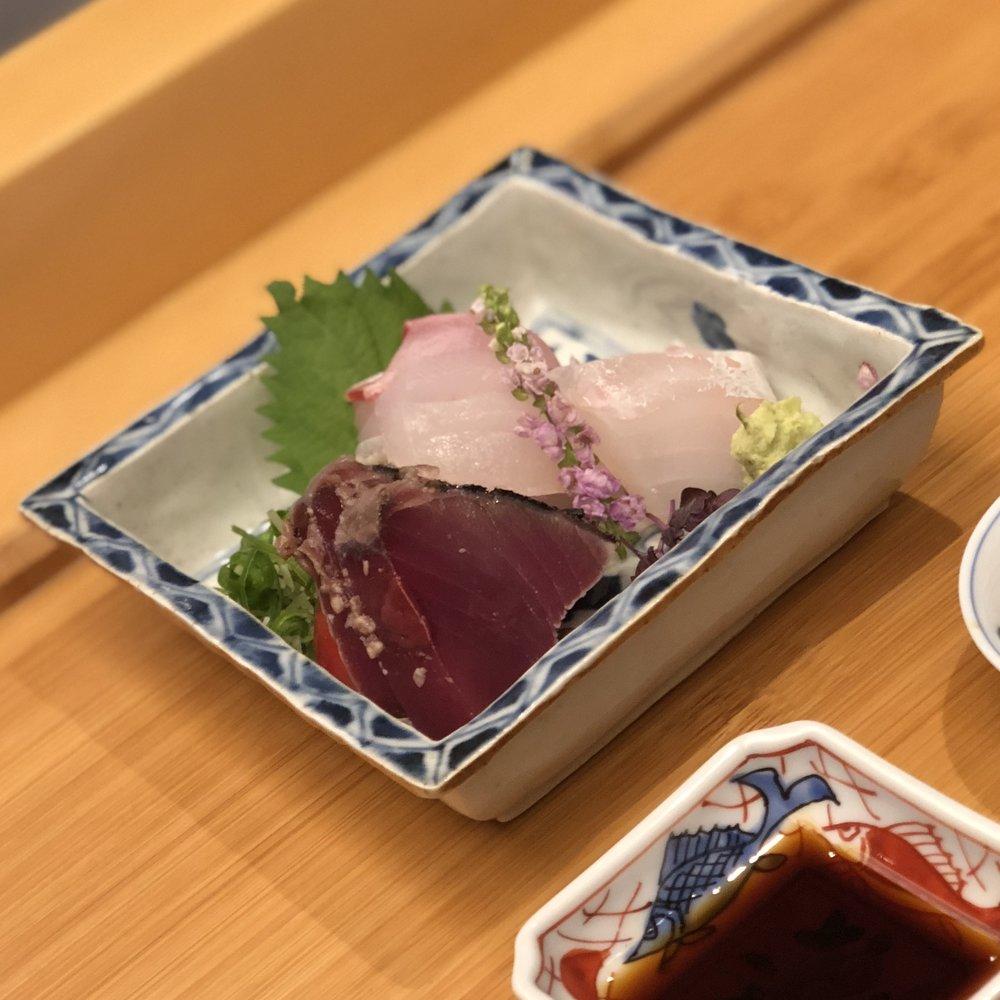 Mukozuke (seasonal sashimi) 向付