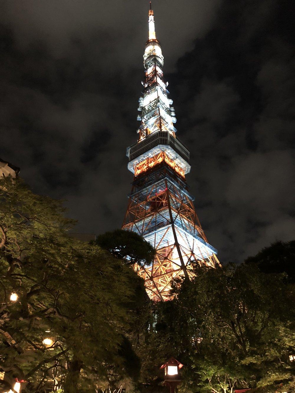 Tokyo Tower from view at Ukai