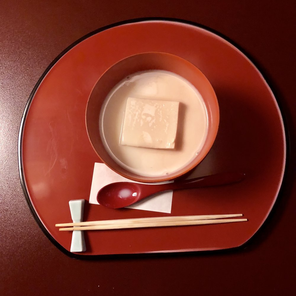 Tofu in seasoned soymilk