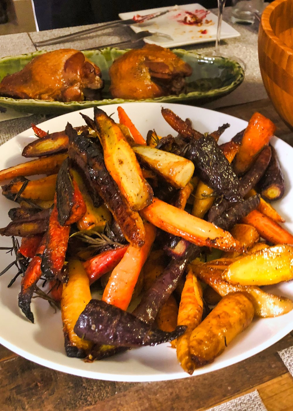 roasted tri color carrots