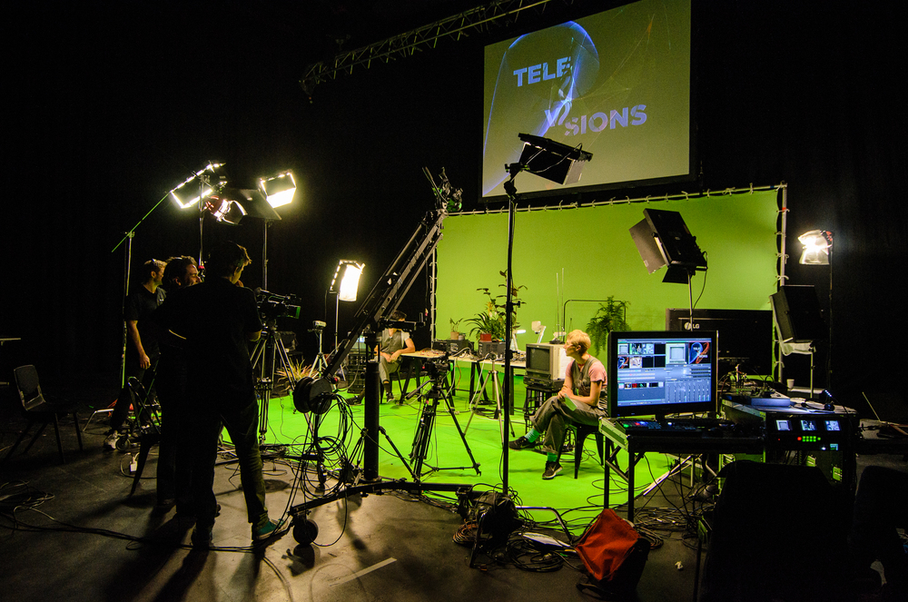 Image Tele Visions 2013 Pictured Pia Van Gelder in rehearsals for ' Television Behavioural Studies '