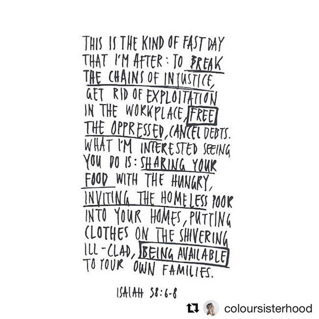 Thought for the day via Isaiah + @coloursisterhood 🌏 #livecompassion