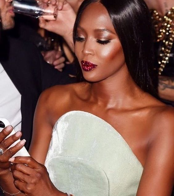 Naomi Looks absolutely Stunning in this lip by Pat McGrath Labs.